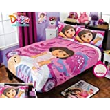 Dora Floral Fuzzy Fleece Blanket Twin/Full/Queen Size