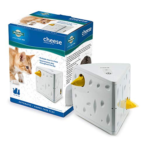 PetSafe Electronic Cat Toys, Automatic Cheese and Peek-A-Bird, Hide and Seek Teaser Toy, Interactive Ambush Bird and Mouse Hunt, Motion Activated Fun for Kittens