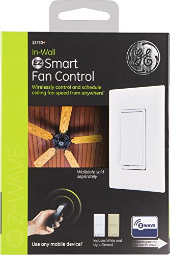 GE Z-Wave Wireless Smart Fan Speed Control, 3-Speed, In-Wall, Includes White & Light Almond Paddles, Hub Required, 12730, Works with Alexa by GE (Image #3)