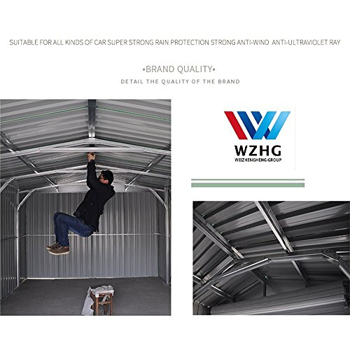Weizhengheng CG06 light Steel Metal Car Garage with Electric Rolling Door by Weizhengheng (Image #4)