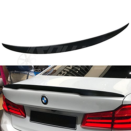 R.G Performance G30 Carbon Fiber Trunk Spoiler Fits BMW 5-Series G30 Sedan 2017-2019 (P Style) ()