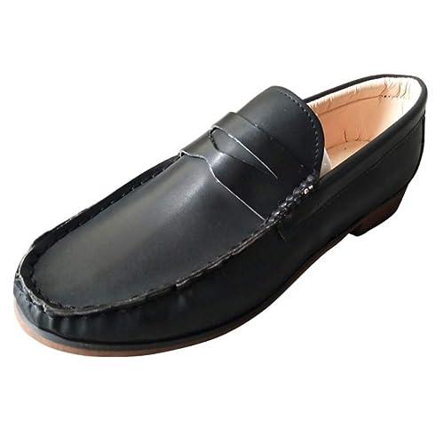 Tenthree Cuero Planos Zapatos Mujer - Mujeres Barco Conducción Zapatos Slip On Loafers Mocasines Zapatilla Oficina Smart Trabajo Informal Cómodo: Amazon.es: ...