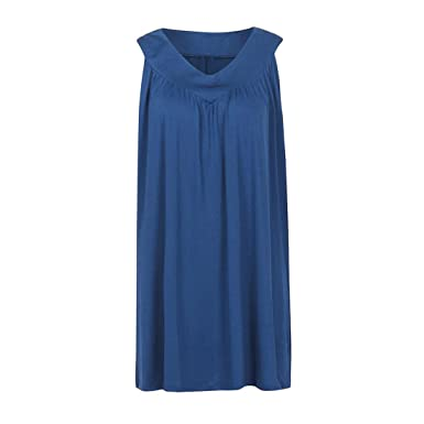 ec60b819 Womens Tops,Moonuy, Women Tops Summer,Ladies Oversize Loose Sleeveless V  Neck Cami