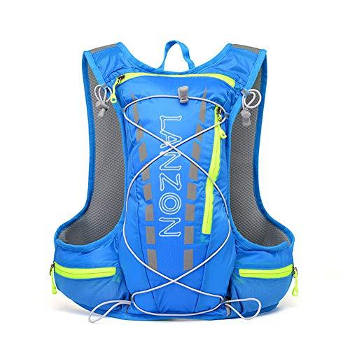 - LANZON 5L Hydration Pack (NO Bladder), Marathon Running Vest, Hiking Cycling Backpack - Blue