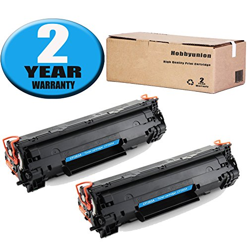 - 83A CF283A Toner Cartridge 2 Pack Black Hobbyunion Brand Replacement for LaserJet M126A M126NW M127FN M127FP
