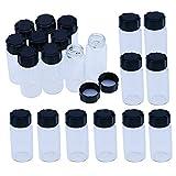 Clear Liquid Sampling Sample Glass Bottles Vials Screwcap Capacity 10ml (1/3 Oz) Pack of 20