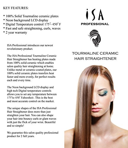 ISA Professional Digital LCD Ceramic Flat Iron Hair Straightener by ISA Professional (Image #1)
