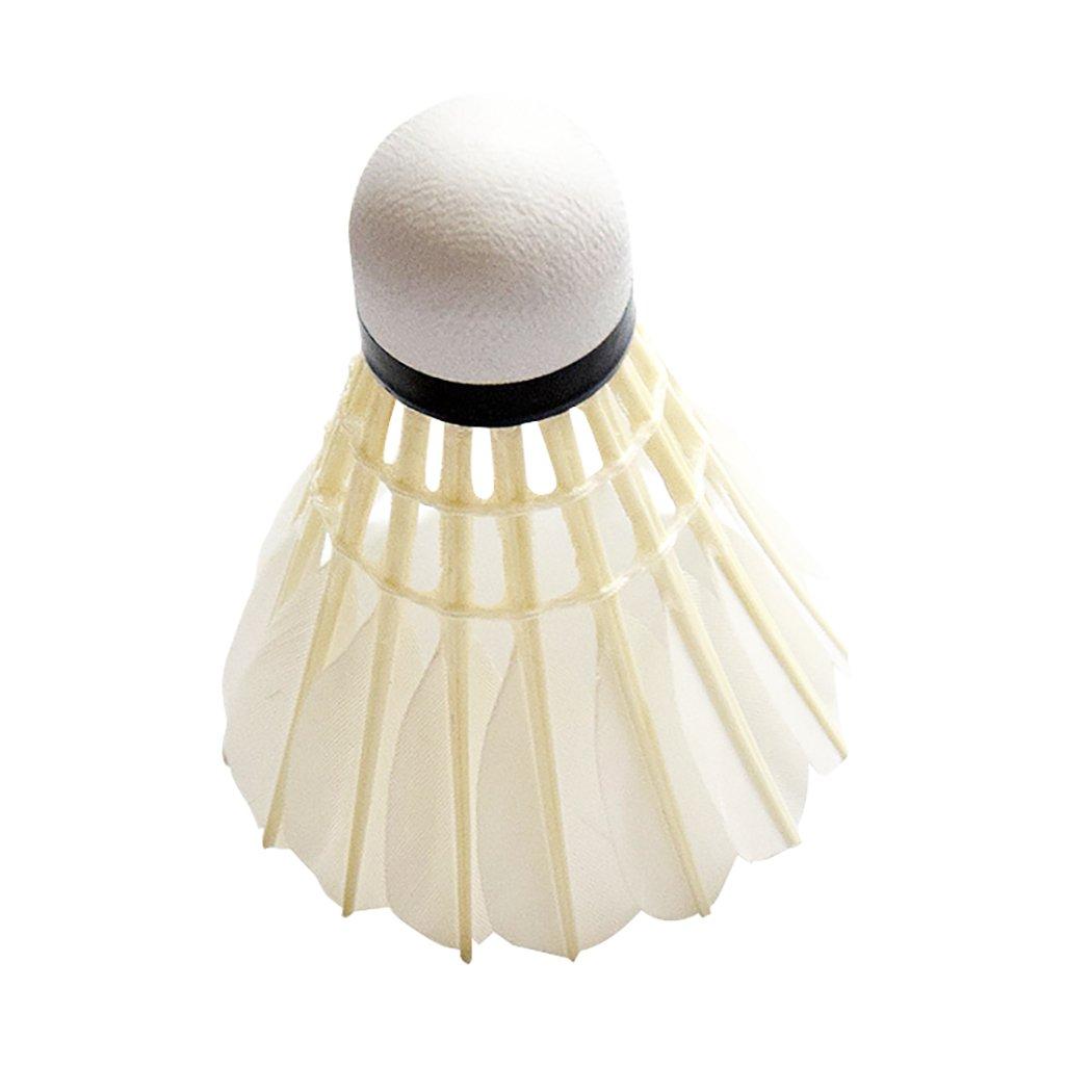 71ea40553dd90 Senston 6 Pcs A7 Training Sport Plume Blanche Volant Birdies Badminton Jeu  de Balle