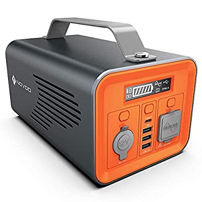 NOVOO Portable Power Station 230Wh Generator Lithium Battery Backup Power Emergency Supply with 110V/200W Pure Sinewave AC Inverter Outlet, USB-C PD for Outdoors Camping Travel Fishing Hunting
