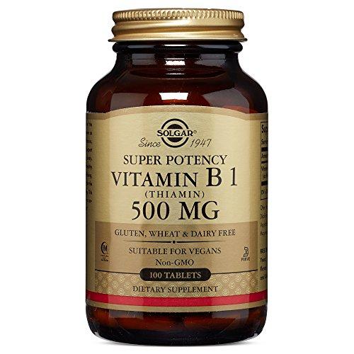 Solgar - Vitamin B-1 (Thiamin), 500 mg, 100 tablets