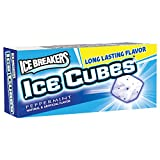 ICE BREAKERS ICE CUBES Peppermint Chewing Gum (Sugar Free, 10-Piece Boxes, Pack of 16)
