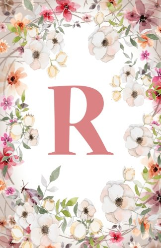 R: Monogram Initial Name Notebook (journal, composition, Diary, Ruled , scrapbook) 120 Lined Pages 60 Sheets for Kids, Girl, Woman and School  5.5 x 8.5, Pink Floral (Pocket Size) (Volume 18)