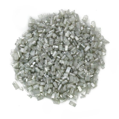 Dress My Cupcake DMC27119 Decorating Pearlized Colored Sugar Crystals for Cakes, 4-Ounce, Silver