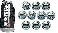 10 Stück Fußball Derbystar Scirocco TT Gr 5 Gewicht 420 g + Ballsack