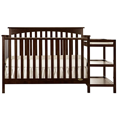 Dream On Me Chloe 5-in-1 Convertible Crib with Changer, - Table Warehouse