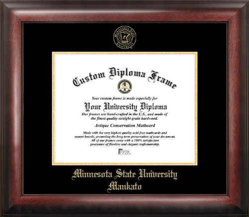 Minnesota State University Mankato Gold Embossed Diploma Frame by Campus Images
