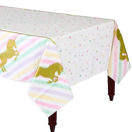 Frmarche - Mantel de Mesa desechable con diseño de Unicornio ...
