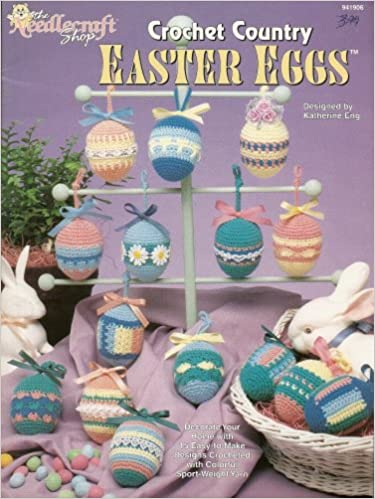 The Needlecraft Shop Crochet Country Easter Eggs Amazon Books