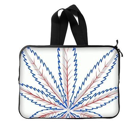 pecfect regalo diseño de hojas de marihuana funda para ordenador portátil 14 pulgadas Carteras Bolsos (Twin Sides) E: Amazon.es: Equipaje