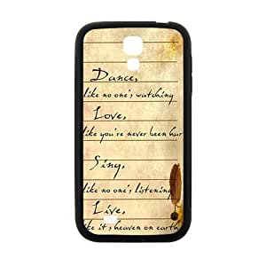 Artistic Poetry notes Cell Phone Case for Samsung Galaxy S4