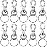 BronaGrand 60 Pieces Metal Swivel Lanyard Snap Hook with Key Rings(Small Size)
