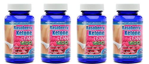 MaritzMayer Raspberry Ketone Lean Advanced Weight Loss Supplement 60 Capsules Per Bottle 4 Bottles by MaritzMayer Laboratories