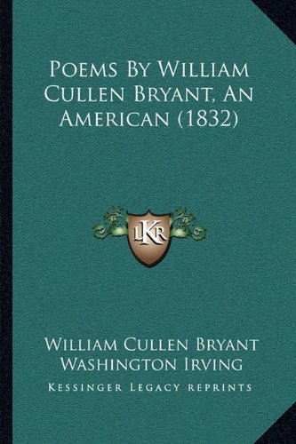 Poems By William Cullen Bryant, An American (1832) pdf