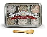 Caravel Gourmet Natural Sea Salt Sampler, 8.5 Ounce