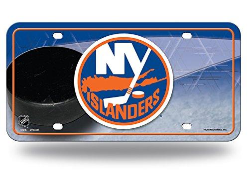 (New York Islanders Puck Design PV8401 PUCK Metal Aluminum Novelty License Plate Tag NHL)