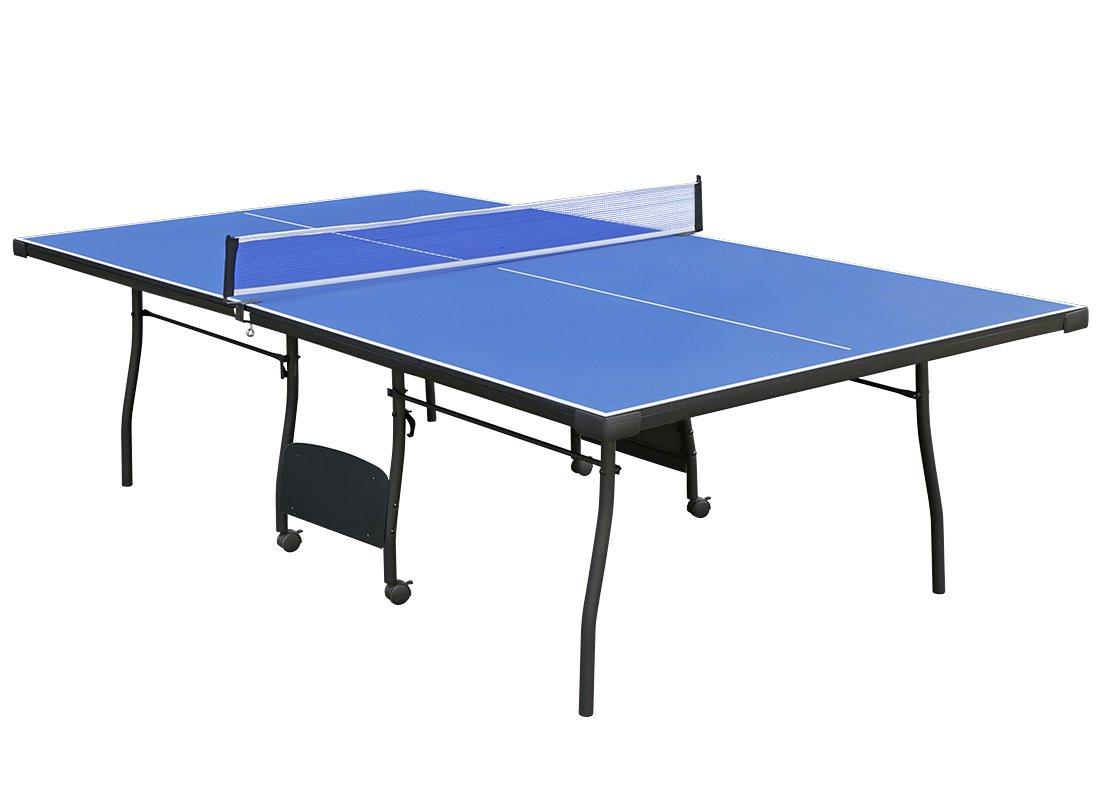 HLCインドアFolding Ping Pong Table Tennis Tableブルー B075694LM5