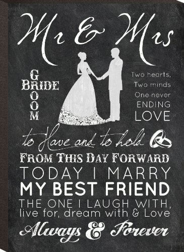 Mr. & Mrs. Decorative Wall Plaque - 4.25