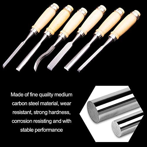 WYZXR 12pcs Woodcut Chisels Set DIY Wood Sculpture for Woodworking Carving Tool