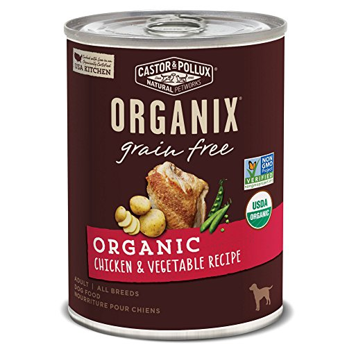 Castor & Pollux Organix Grain Free Organic Chicken & Vegetable Recipe Wet Dog Food, 12.7 Oz., Case Of 12 Cans