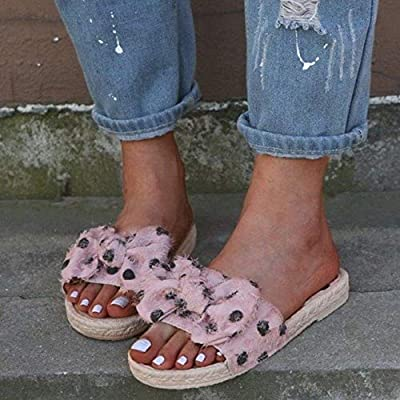 Summer Womens Casual Slides Bow Sandals Comfortable Beach Flat Ladies Slippers