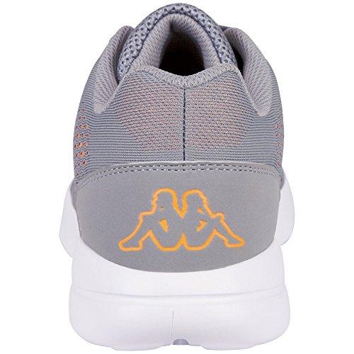 Kappa Nexus, Sneakers Basses Mixte Adulte, 1111 Black Grau (1644 Grey/Orange)