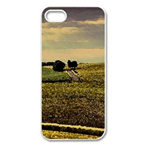 Countryside Field Watercolor style Cover iPhone 5 and 5S Case (Landscape Watercolor style Cover iPhone 5 and 5S Case)