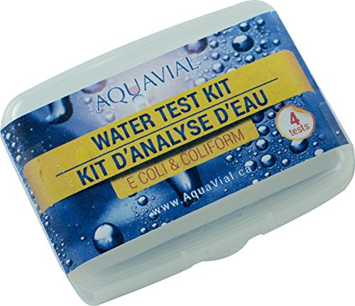 AquaVial | Water Test Kit | Detect E.Coli & Coliform | Use in Drinking Water, Wells, Pools, Hot Tubs or During Travels | 4 Pack