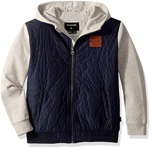 Quiksilver Boys' Big' Leno Bay Flacket Youth Zip UP Jacket, Blue Nights, M/12