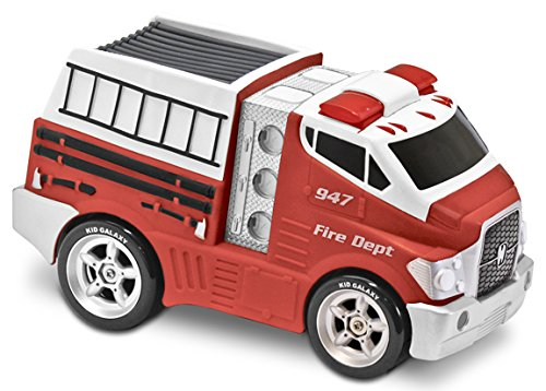 - Kid Galaxy Jumbo Soft and Squeezable Fire Truck. Toddler Light and Sound Effects Emergency Vehicle