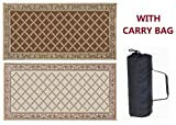 Reversible mats can be used for your RV patio, in the garden, on the beach, perfect for placing under pets exercise pens and cages, picnic and various Indoor and Outdoor spaces. 100% virgin polypropylene material makes a durable mat Breathable materi...