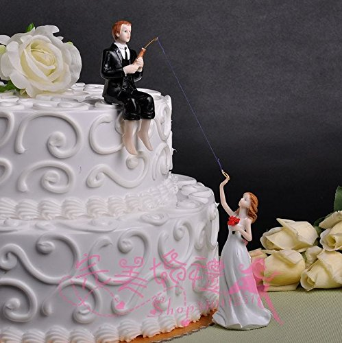 Resin Wedding Cake Topper (Groom Fishing) (Fishing Wedding Cake compare prices)