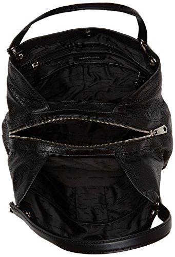 Michael Kors Raven Lg Shoulder Tote - Black, Silver Hardware by Michael Kors (Image #5)