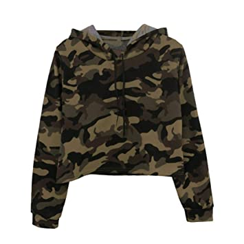 2018 Camo Hoodies Sweatshirt for Teen Girls Iuhan Women s Long Sleeve Soft  Hoodies 9e5492b3e2e