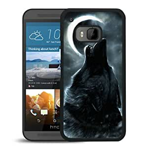 HTC ONE M9 wolf under the moon (3) Black Screen Cellphone Case Genuine and Retro Design