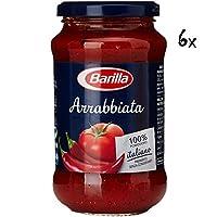 6x Barilla Arrabbiata pastasauce tomatensauce mit chilischoten 400 g aus italien