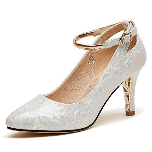 Talons Blanc élégant mode hauts chaussures femmes section mince des automne v4vrAz