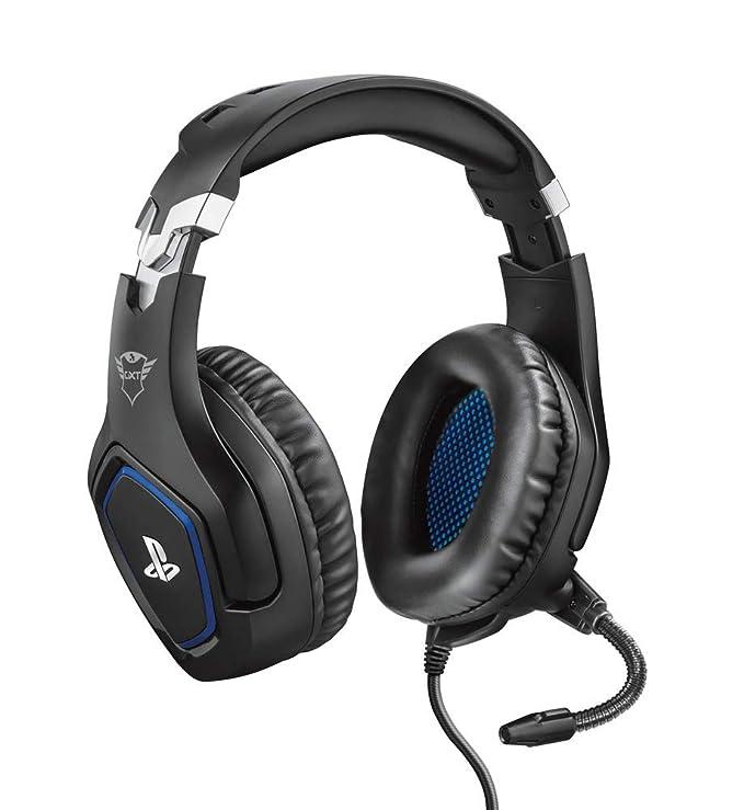 Trust GXT 488 Forze Auriculares gaming con licencia oficial PlayStation 4 con micrófono plegable y diadema ajustable, color negro