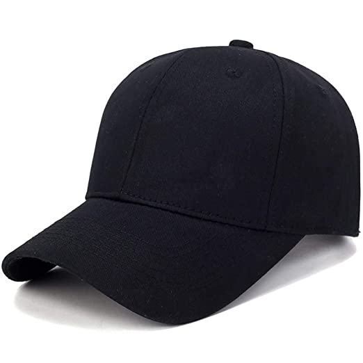 Baseball Caps Bulk Unisex Cotton Adjustable Solid Color Men Outdoor Sun Hats  (Black) 17f093bb818f