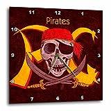 3dRose LLC Pirates 10 by 10-Inch Wall Clock