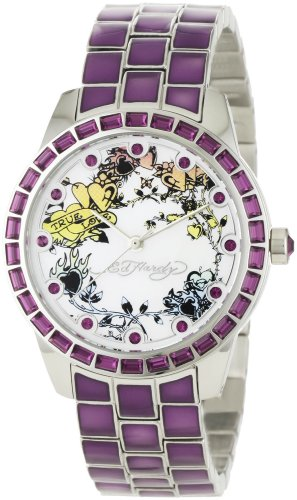 Ed Hardy Women's BE-PU Bella Purple Watch